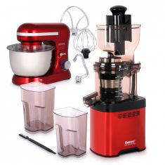 Whole Big Mouth Juicer - Red LDDC-1507 with Balzano Stand Mixer SM-1510N - Red
