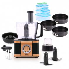 Processeur alimentaire multifonctionnel EF408 - Royal Black Collection & Gifts