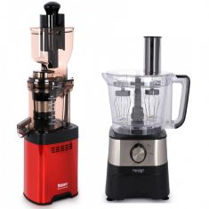 Balzano Whole Big Mouth Juicer - Red  with PRESTIGE Multi-Function Food Processor and Soup maker EMPIRE